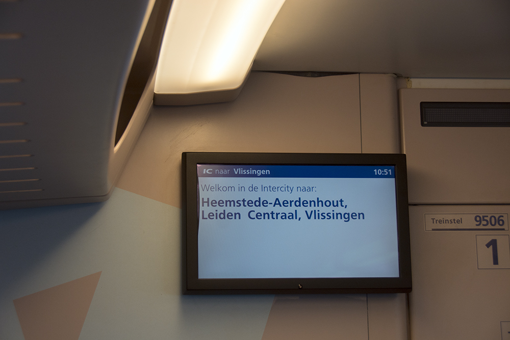 In-train destination board