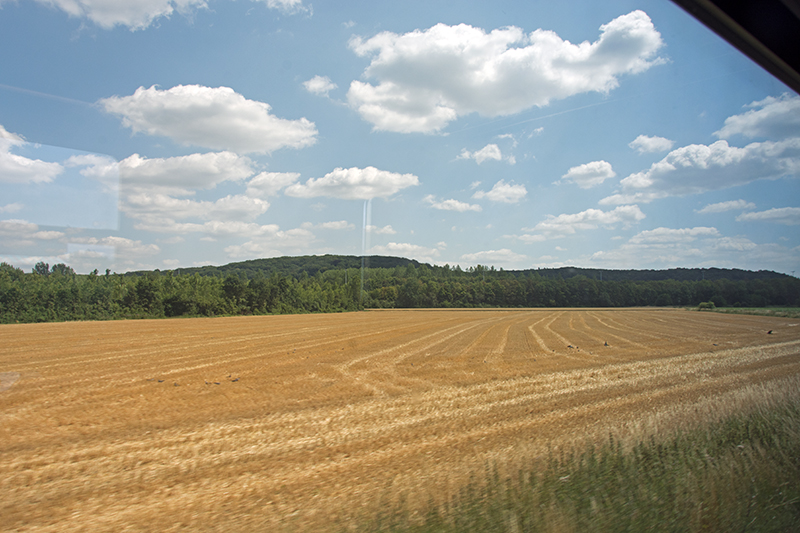 Non-flat countryside