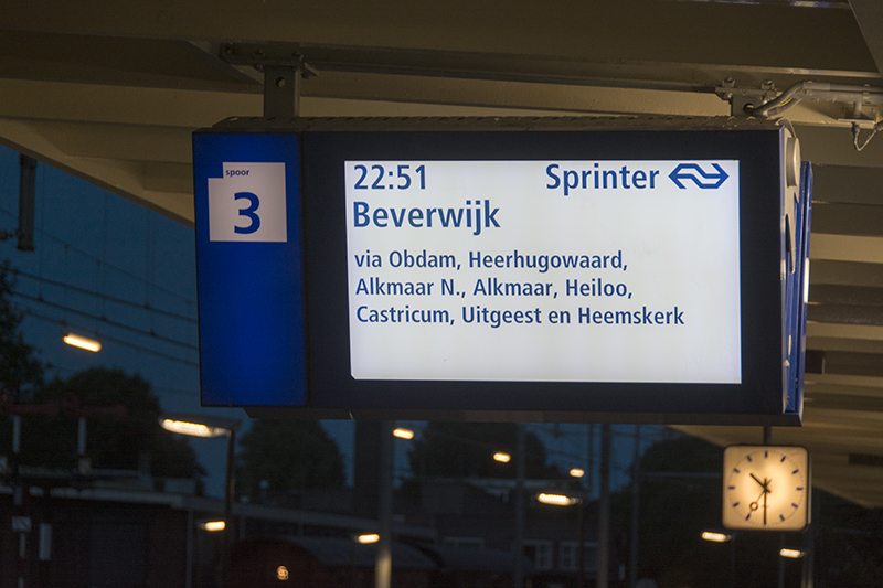 Hoorn destination board